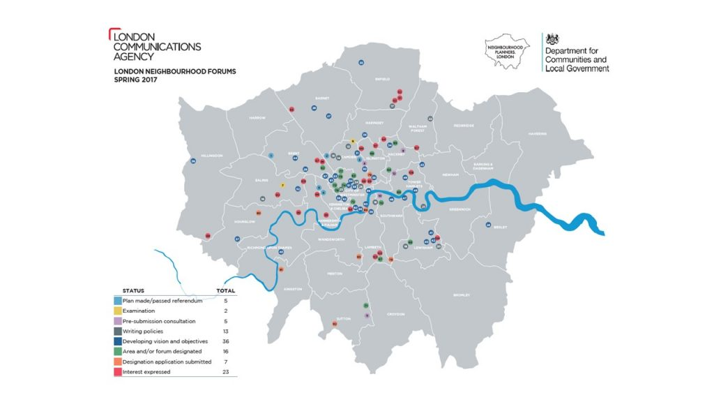 London Comms map