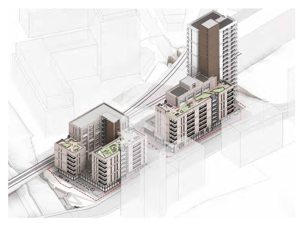 Proposed Mitre yard development