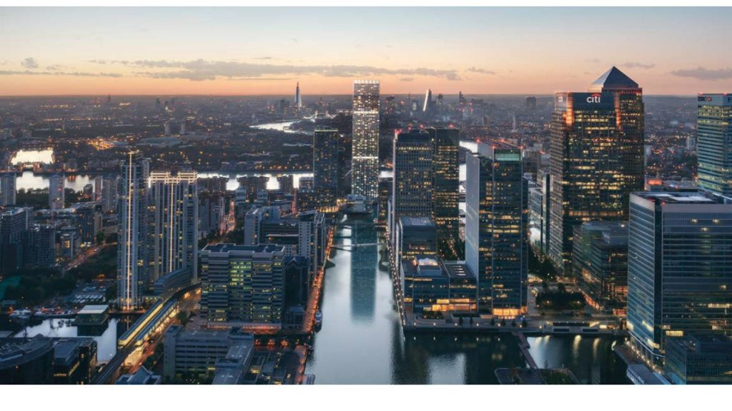 From Landmark Pinnacle marketing brochure, Canary Wharf