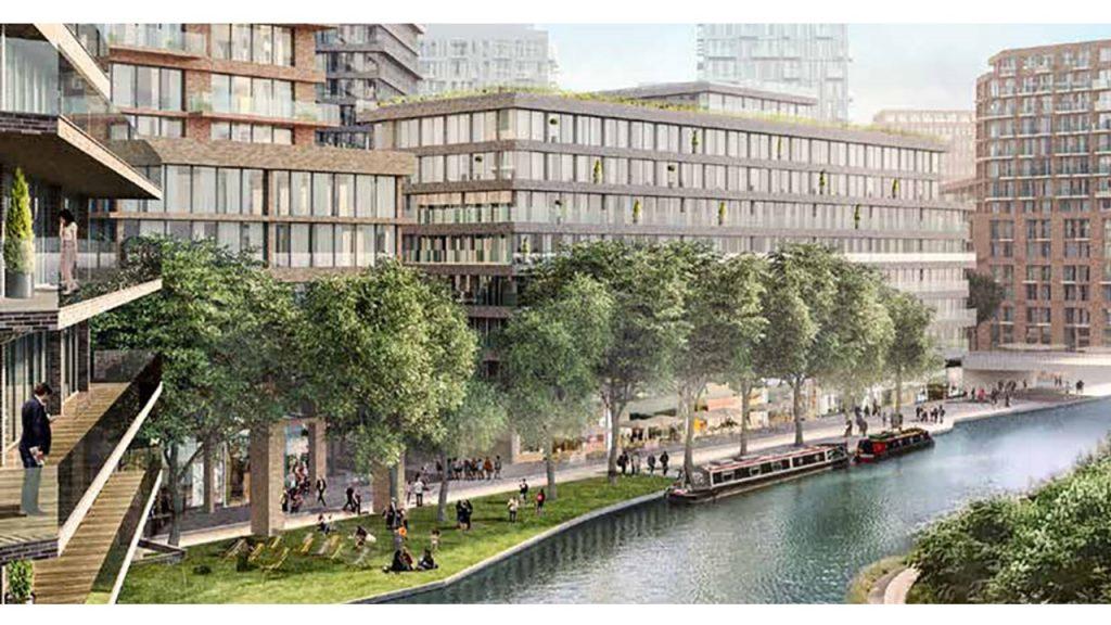 CGI image of Cargiant's proposals for Old Oak Park