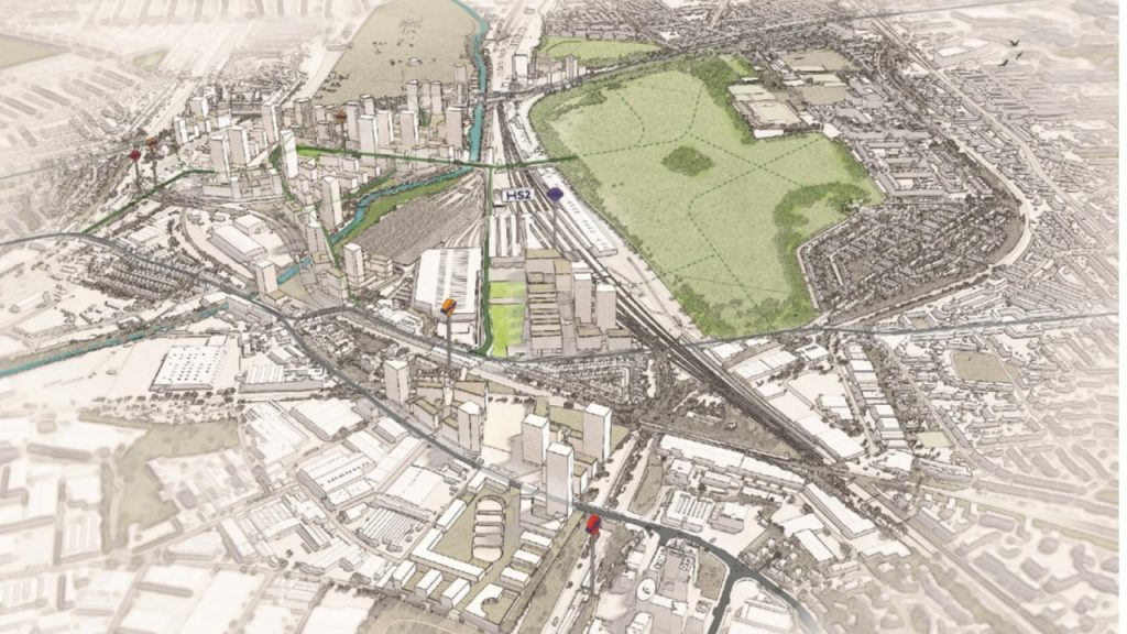 OPDC masterplan 2018 showing revised proposals for Old Oak South