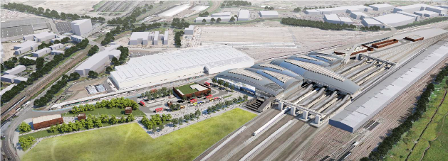 HS2 consultation image of Old Oak Common station and Ajacent Site